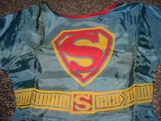 Super girl 1966 halloween costume,boxed DC comic book,Batman superhero