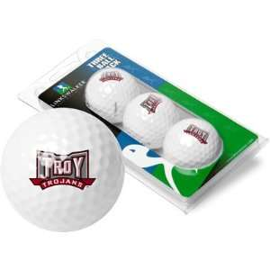 Troy Trojans 3 Pack of Logo Golf Balls Sports & Outdoors