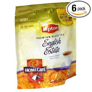 Lipton English Estate Tea Premium Black Tea, Home Cafe Tea Pods, 20