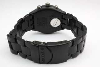 Men Irony Chrono Black Coat Aluminum Band Watch Date 40mm YCB4019AG