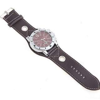Mens Band Quartz Wrist watch Synthetic Leather M381K