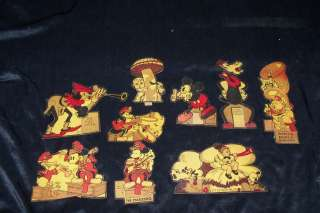 Vtg 1930s Mickey Mouse Silly Symphonies Post Cereal Box Premium Lot