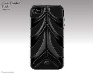 SwitchEasy CapsuleRebel Hybrid Case for iPhone 4 Black