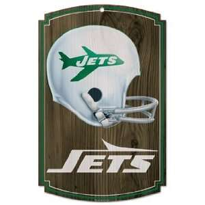 NFL New York Jets Sign   Wood Style Vintage: Sports