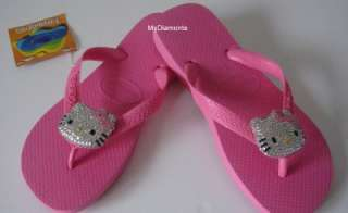 Pink Havaianas Thongs Featuring Hello Kitty Swarovski Crystals HK2