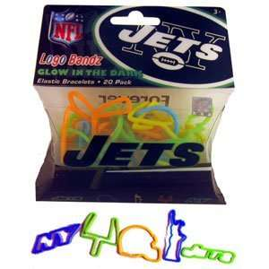 New York Jets Glow Football Logo Bandz Silly Bands Toys & Games