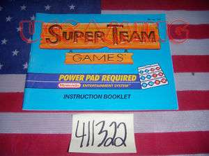 NES Nintendo SUPER TEAM GAMES   MANUAL ONLY   GOOD CONDITION