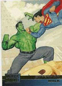 SUPERMAN/HULK #1 1995 DC Vs Marvel card Glen Orbik