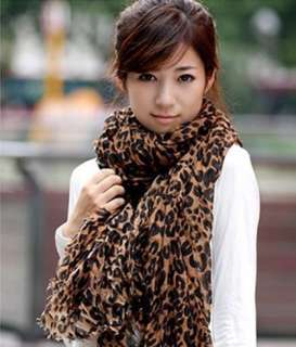 New Fashion Long Leopard Print Shawl Scarf Wrap Stole