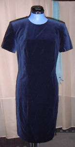 Brooks Brothers 6 navy blue velvet dress shift