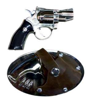 Gun in Holster Belt Buckle Cigarette Lighter & Laser Pointer Free