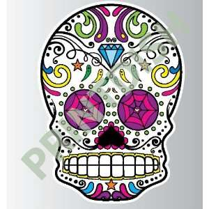 Sugar skull 8 1 sticker vinyl decal 3 x 2