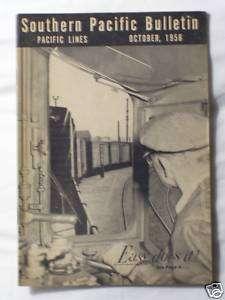 SOUTHERN PACIFIC BULLETIN EMPLOYEE MAGAZINE OCT 1956