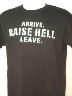 Stone Cold Steve Austin RAISE HELL LEAVE Skull T shirt