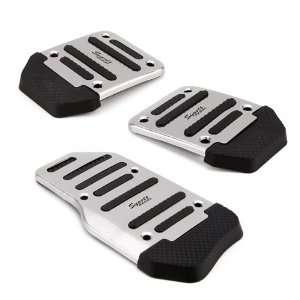Black Race Style Pedal Cover Kit for Manual Transmissions Automotive