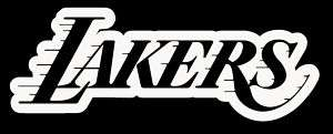 Los Angeles Lakers OUTLINE Vinyl Decal Sticker 11x4