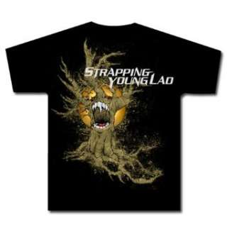 STRAPPING YOUNG LAD   Tree   Black T shirt Clothing