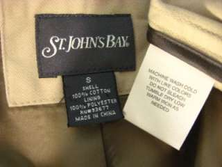 St Johns Bay khaki 3 button cotton sport coat blazer Small (c64 11