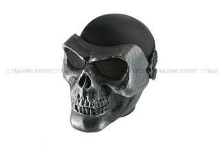 CACIQUE Skull Full Face Mask Silverish Black MK11 01187