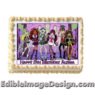 MONSTER HIGH DOLL Edible Cake Image Topper Party NEW