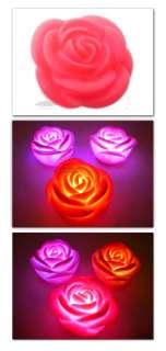 LED Pink Rose Light Lamp Wedding Christmas Decor New