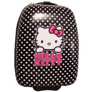 Hello Kitty Suitcase   Black with White Polka dots Carry on Luggage