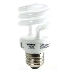 Super Mini Spiral Energy Saving CFL Light Bulb Medium Base, Cool White
