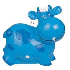 with Dark Blue and White Spots Collectible Money Bank Home & Kitchen