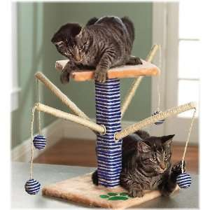Kitty / Kitten / Cat Play Pet Tree with Scratcher + Toys