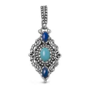 Carolyn Pollack Sterling Silver Turquoise Lapis Reversible