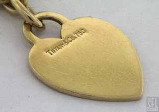 HEAVY 18K GOLD LOVELY HIGH FASHION HEART CHARM CHAIN BRACELET