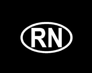 RN Nurse Oval Sticker,Decal,Graphic