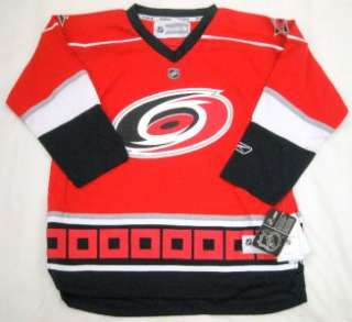 NHL Reebok Carolina Hurricanes Youth Team Color Jersey Red *NEW