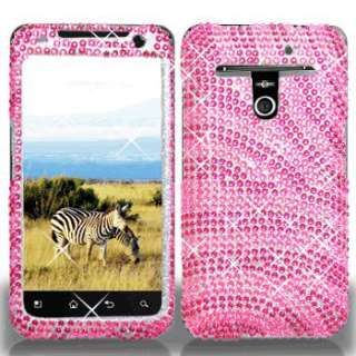Pink Hot Pink Zebra Full Diamond for Metro PCS LG Esteem 4G MS910