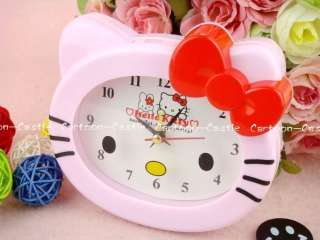 Hello Kitty Plastic Desk Swing Alarm Clock Pink