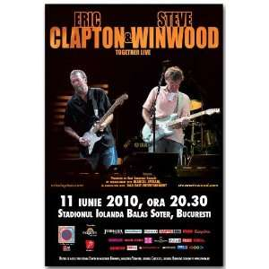 Eric Clapton Poster   B Concert Flyer   2010 Tour with Steve Winwood