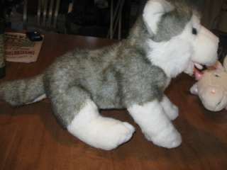 CUTE SIBERIAN HUSKY DOG FROM THE BUILD A BEAR WORKSHOP STUFFED