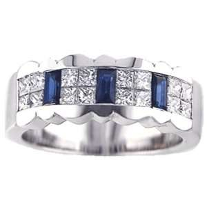 16Ct. 14K. White Gold, Diamond Invisible Set Anniversary Ring Jewelry