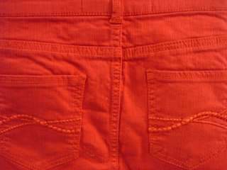 CELEBRITY PINK Red Denim Jean Micro Mini Skirt Size 5