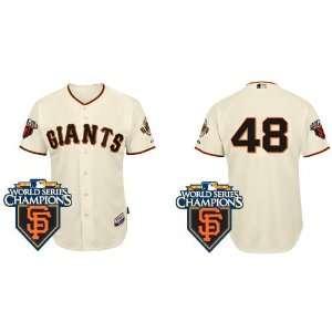 San Francisco Giants #48 Pablo Sandoval Cream 2011 MLB