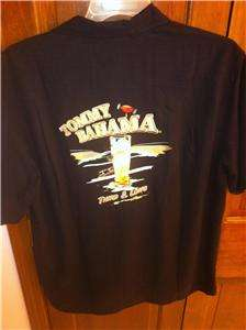 138 XL NWT Tommy Bahama THIRD AND LONG Black embroidered ltd ed. Silk