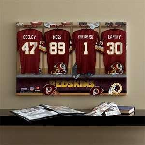 NFL Football Personalized Locker Room Prints   Washington Redskins