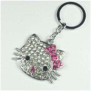 Crystal HELLOKITTY Key Chain Keyring Bag Purse Charm Girls Women Gift