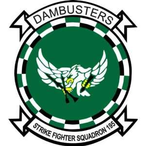 US Navy VFA 195 Dambusters Squadron Decal Sticker 3.8