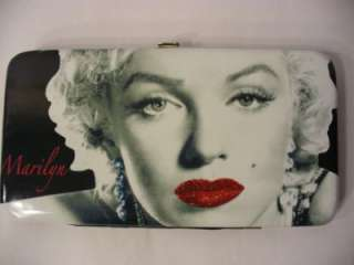 Marilyn Monroe Red Lips Glitter Hinge Wallet Officially Licensed , New