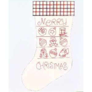 PT Merry Christmas Stocking #1160 Hot Iron Transfer Pattern by Pattern