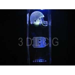 NFL Cincinnati Bengals 3D Laser Etched Crystal 6 Inch