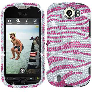 FACEPLATE HARD CASE COVER HTC MY TOUCH SLIDE 4G SILVER ZEBRA