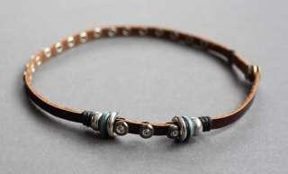 NEW Leather Hemp Surfer 2in1 Bracelet Choker Necklace