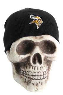 Minnesota Vikings NFL Beanie Skull Cap Hat   Black